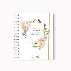 Caderno Floral Safira