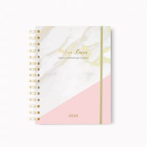 Planner Marble Gold