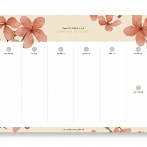 Desk Planner Semanal Floresça
